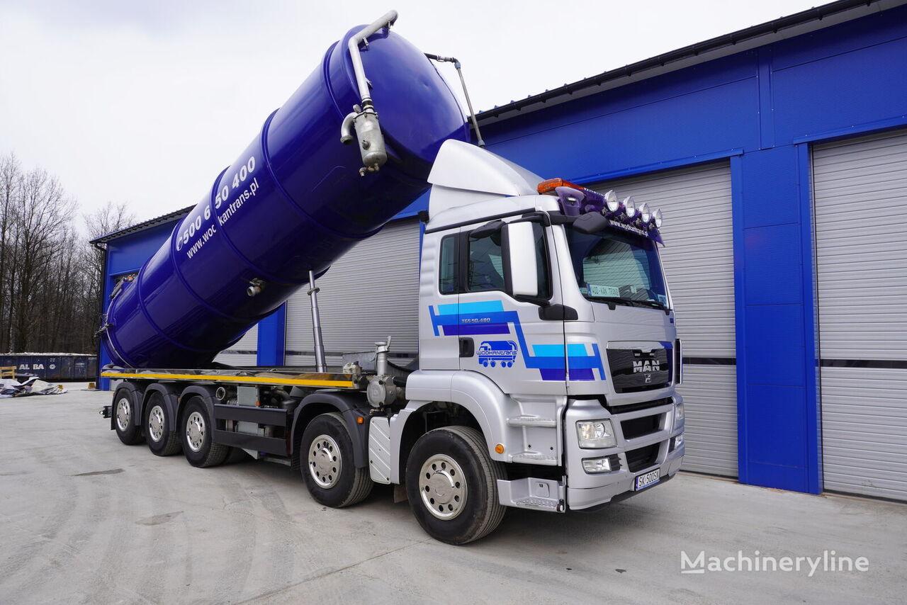 MAN TGS 50.480 HYDRODRIVE 10x4-6 vacuum truck