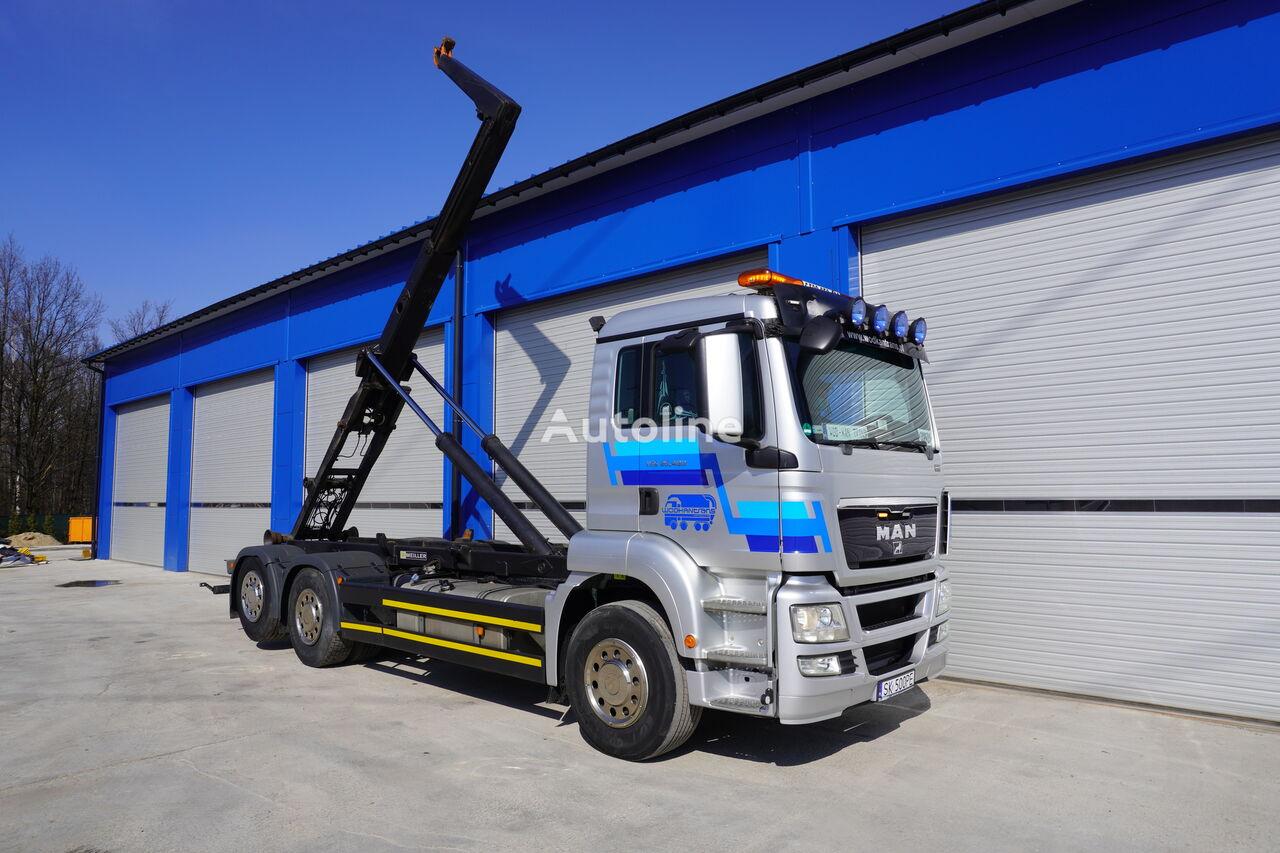 MAN TGS 26.400 hook lift truck