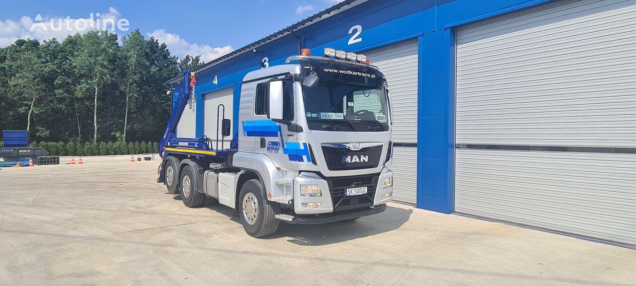 MAN TGS 26.500 MEILLER AK 16 6x2 EURO6 skip loader truck