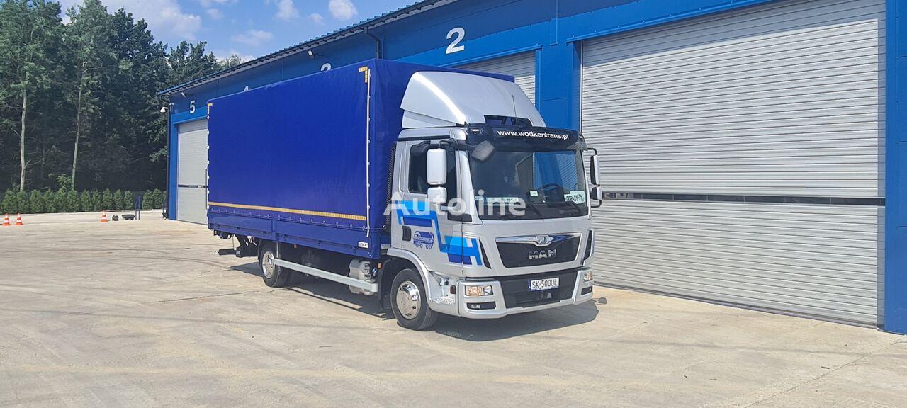 MAN TGL 8.180 E6 PALFINGER klima tilt truck